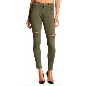 7 For Mankind Ripped Skinny Jeans